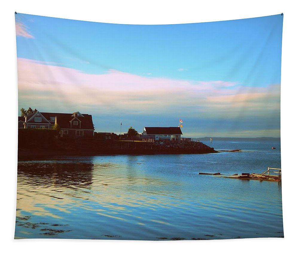 East Coast Sunrise Tapestry featuring the photograph East Coast Sunrise by Karen Cook