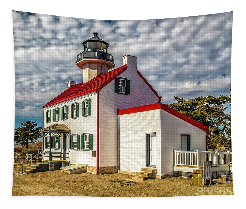 Atlantic Coast Tapestry featuring the photograph East Point Light -renovated by Nick Zelinsky