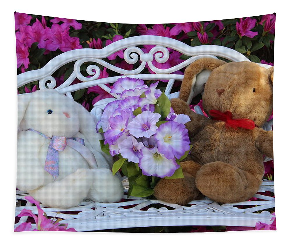 Spring Tapestry featuring the photograph Easter Bunnies by Gayle Miller