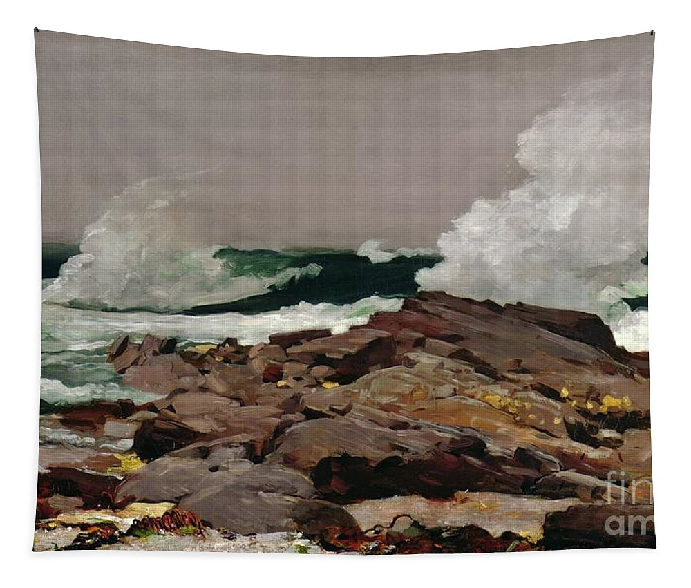 Winslow Homer Tapestry featuring the painting Eastern Point by Winslow Homer