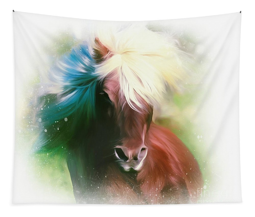 Horse Tapestry featuring the digital art Easy Breezy Covergirl by Tina LeCour