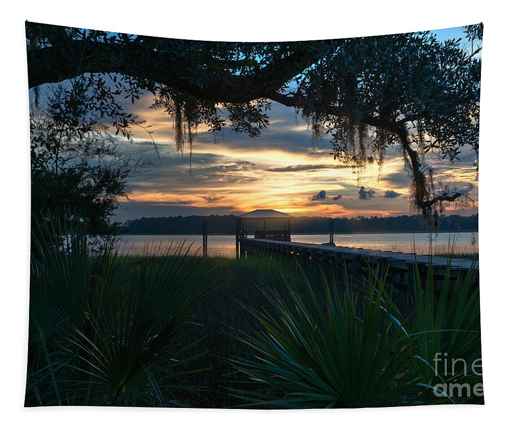 Sunset Tapestry featuring the photograph Easy Living by Dale Powell