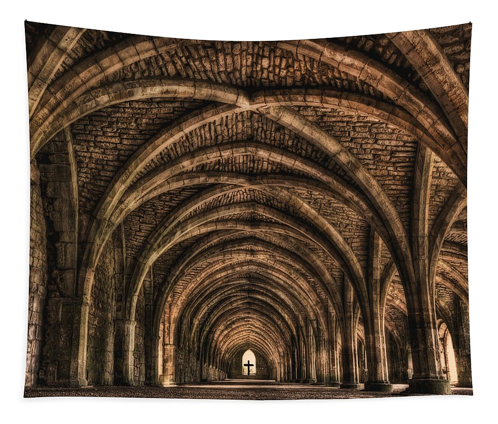 Fountains Abbey Tapestry featuring the photograph Echoes From Ancient Dreams by Evelina Kremsdorf
