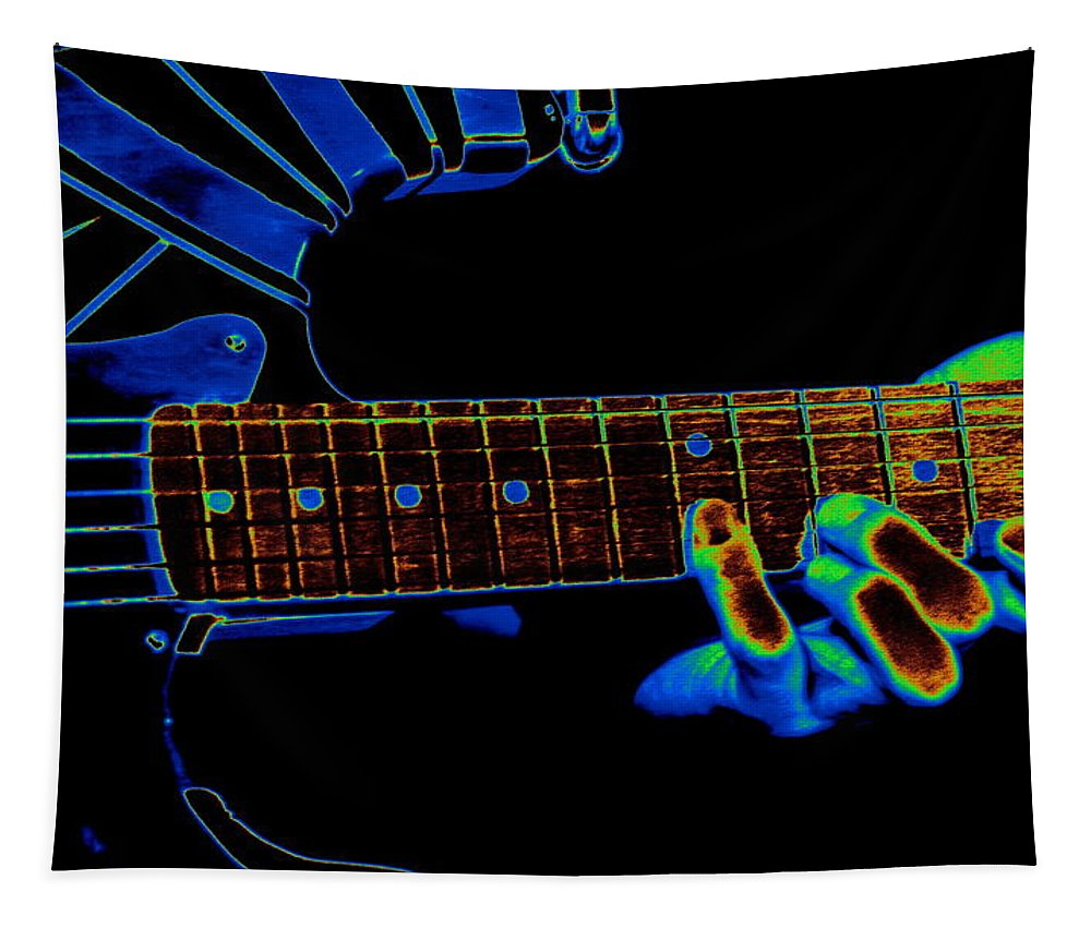 Van Halen Tapestry featuring the photograph Cosmic Fingers by Ben Upham
