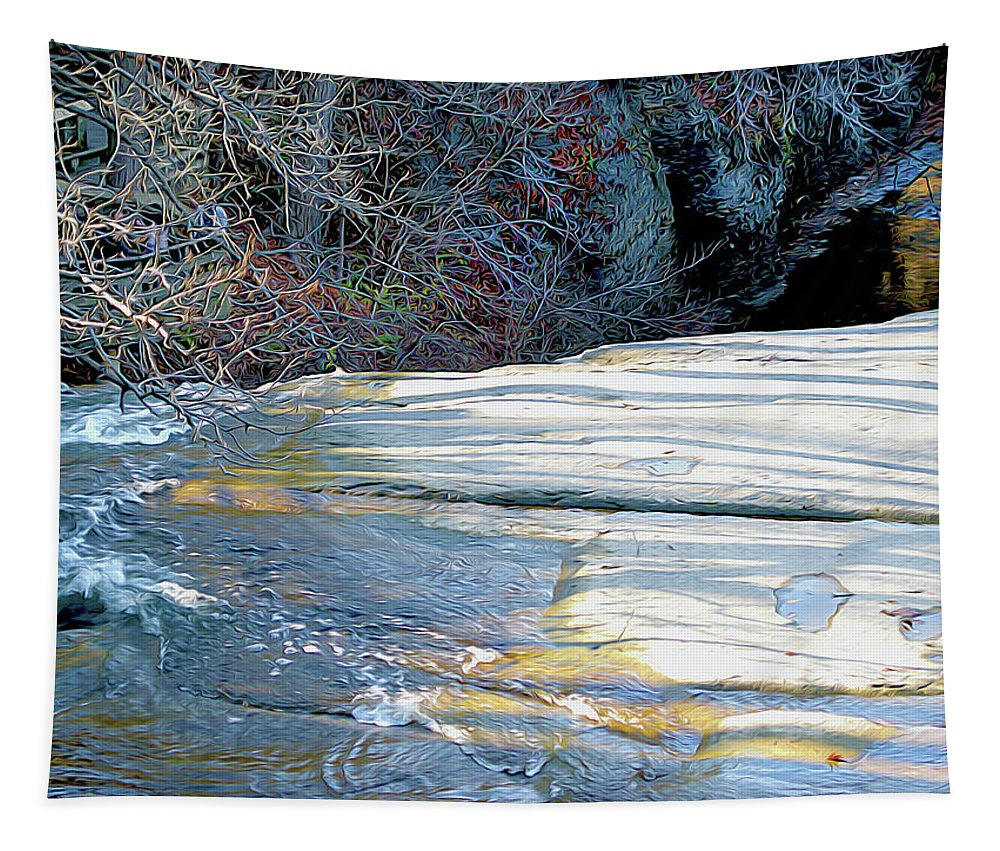 Nature Tapestry featuring the photograph Edge Of Brandywine by Linda Carruth