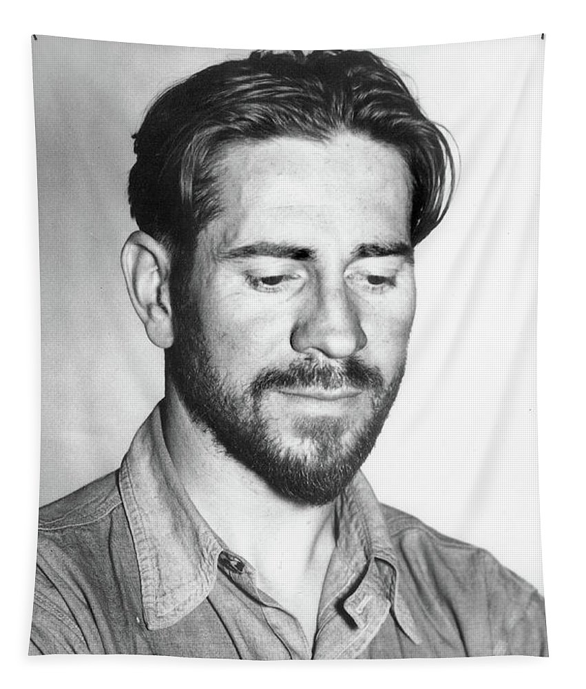 Edward Flanders Robb Ricketts Tapestry featuring the photograph Edward Flanders Robb Ricketts    May 14,1897 - May 11, 1948 by California Views Archives Mr Pat Hathaway Archives