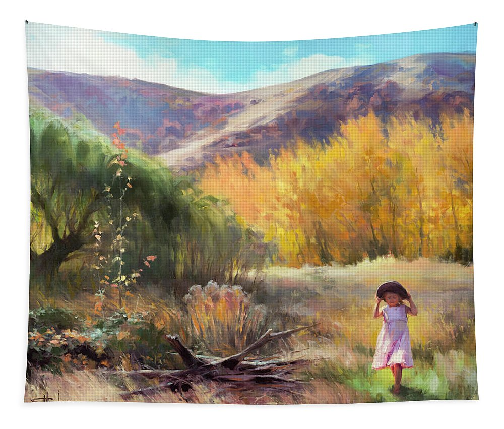 Country Tapestry featuring the painting Effervescence by Steve Henderson