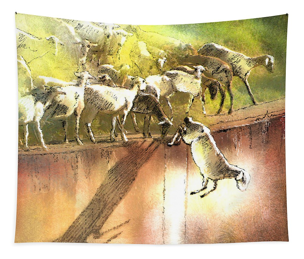 Eid Ul Adha Tapestry featuring the painting Eid And Seek by Miki De Goodaboom