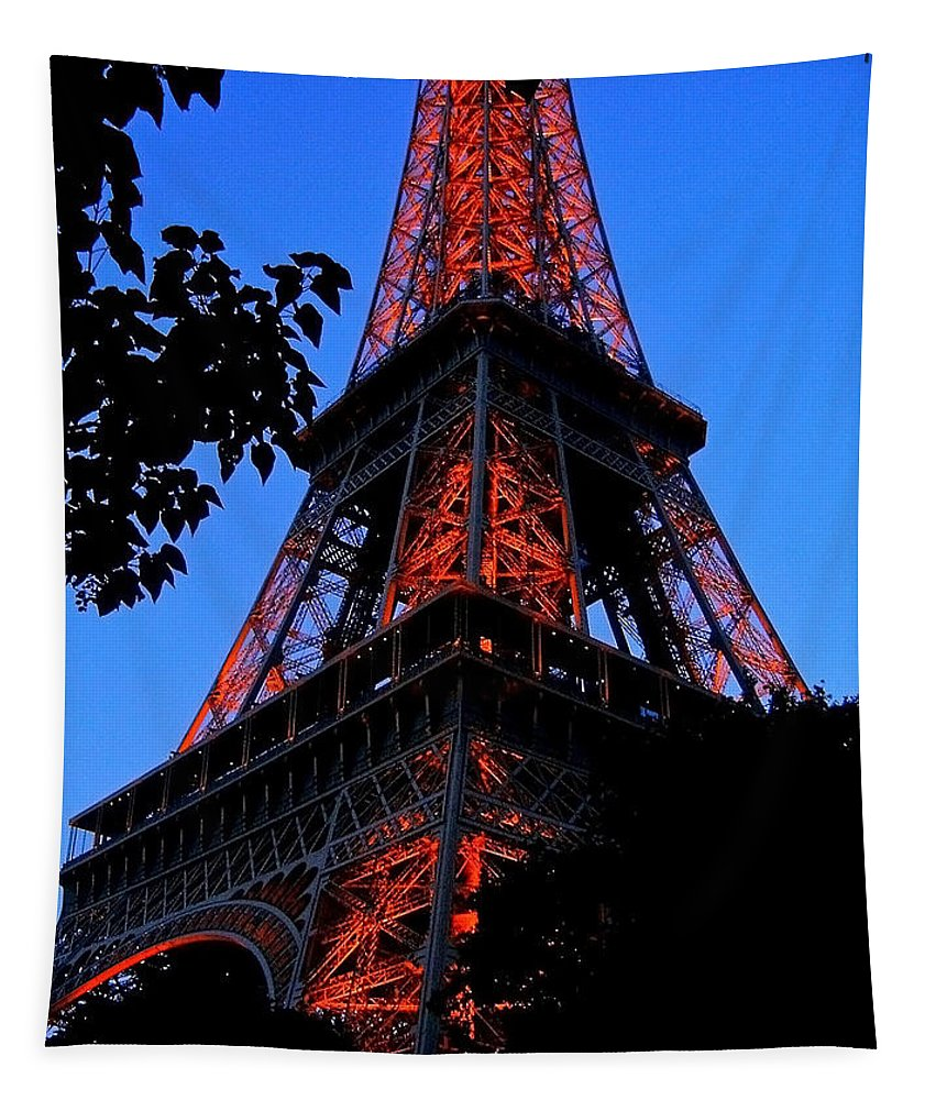 Europe Tapestry featuring the photograph Eiffel Tower by Juergen Weiss