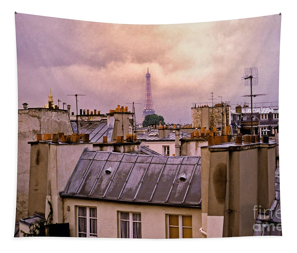Eiffel Tapestry featuring the photograph Eiffel Tower by Madeline Ellis