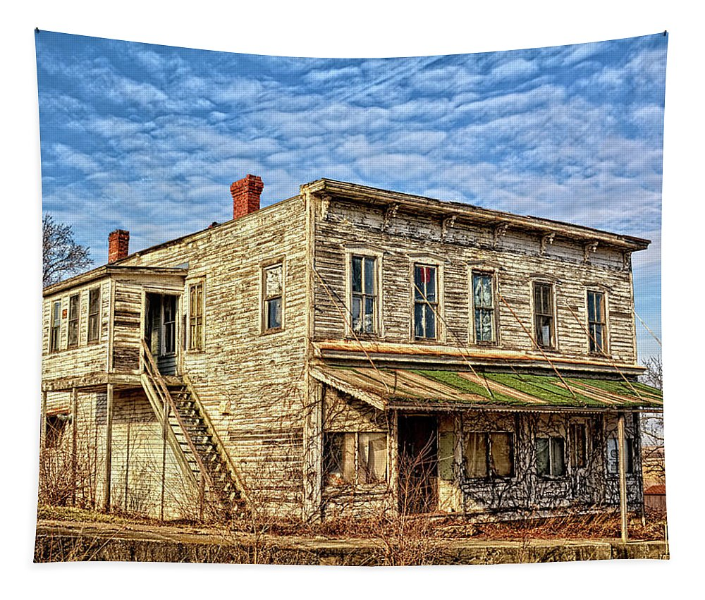 Elberon Tapestry featuring the photograph Elberon Hotel by Bonfire Photography