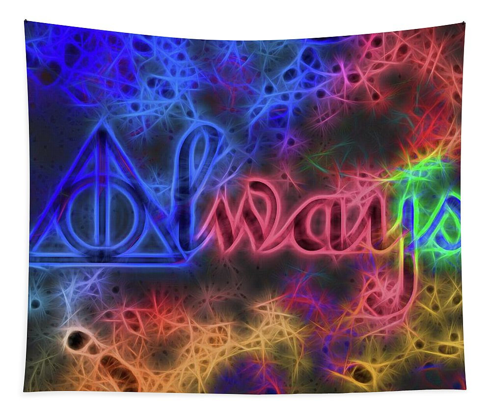 Electric Always Tapestry featuring the mixed media Electric Always by Dan Sproul