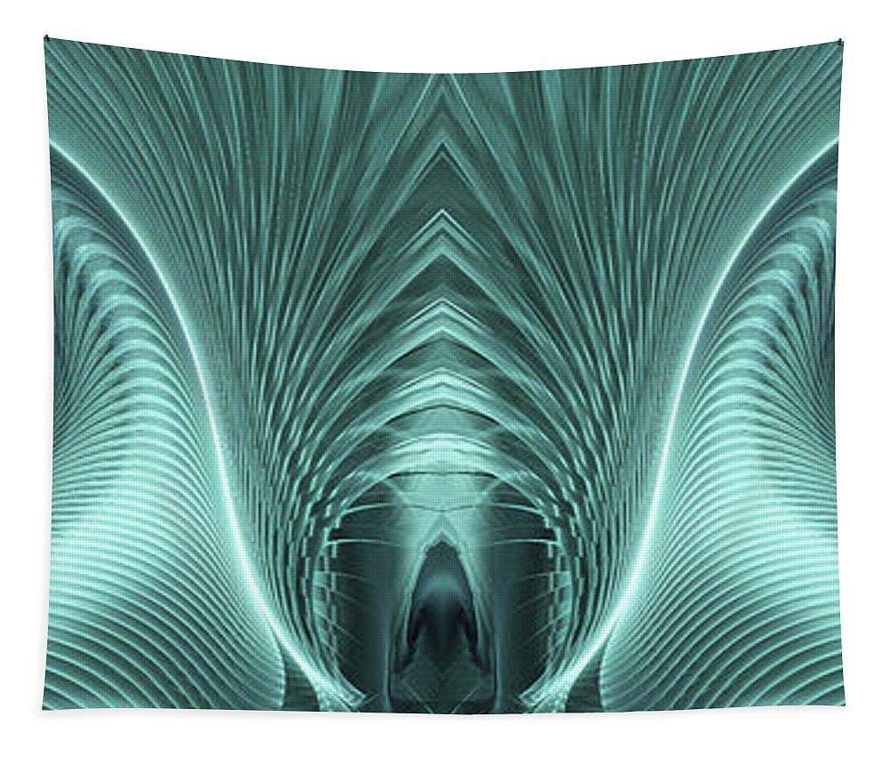 Electric Sheep Tapestry featuring the digital art Electric Sheep by John Edwards