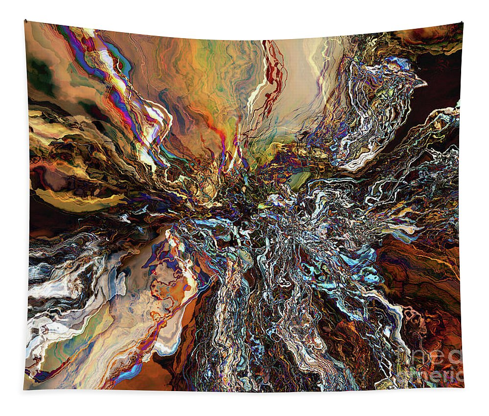 Contemporary Tapestry featuring the digital art Electrical Storm by Phil Perkins