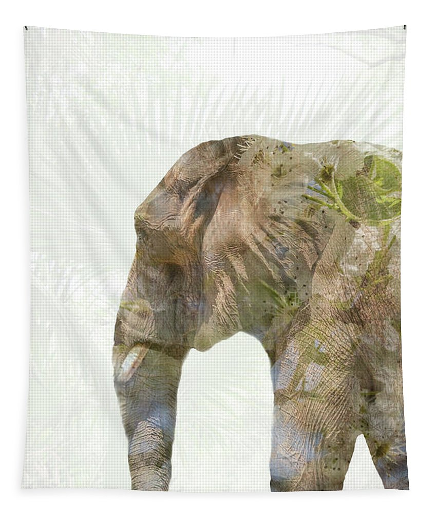 Animal Tapestry featuring the photograph Elephant Palms by Pamela Williams