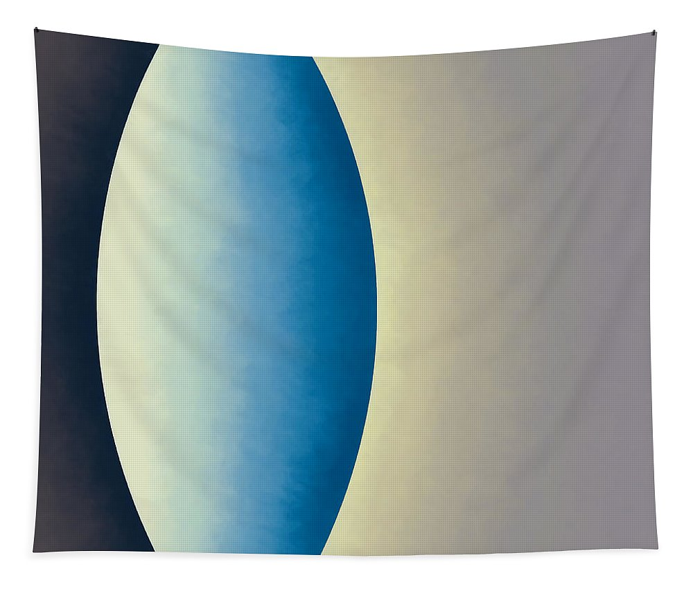 Abstract Tapestry featuring the digital art Blue Moon by Jon Woodhams
