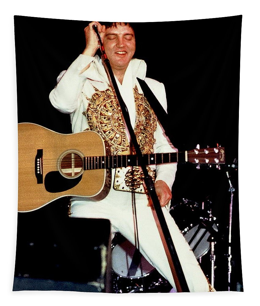 Icon Tapestry featuring the photograph Elvis In Concert by Anthony Dezenzio