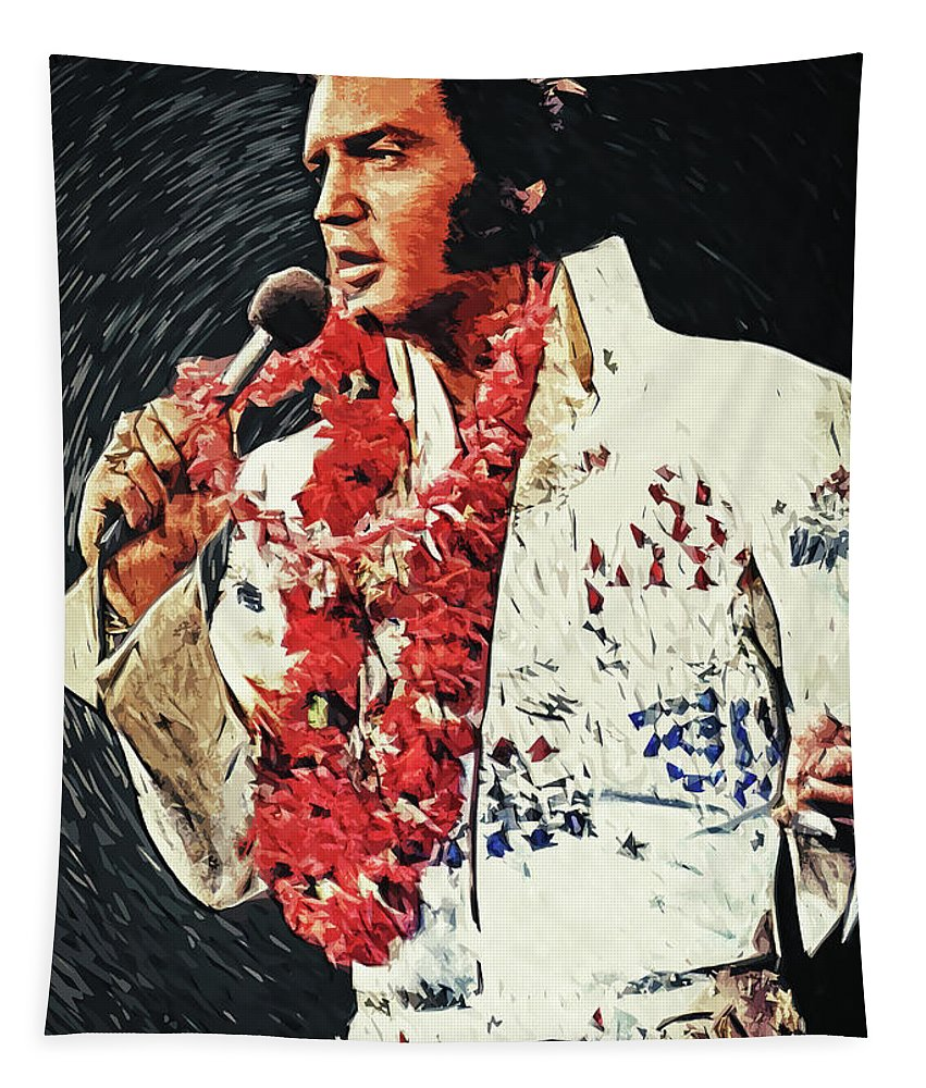 Elvis Presley Tapestry featuring the digital art Elvis Presley by Zapista OU
