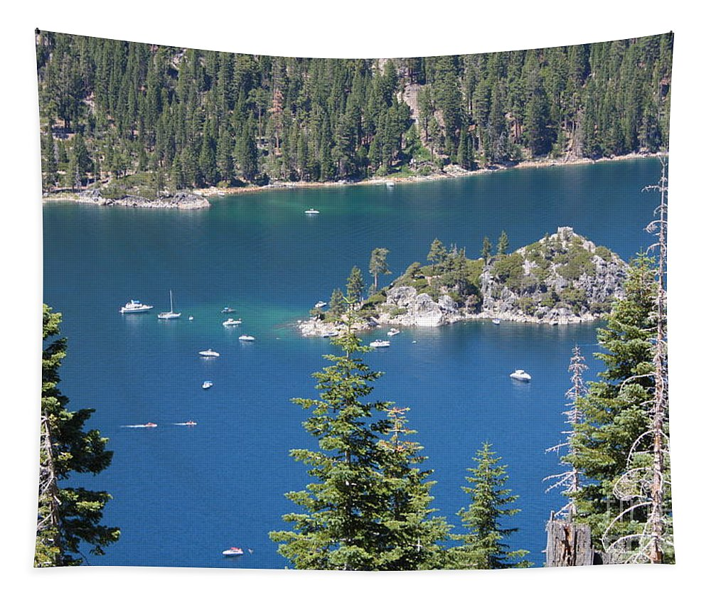 Emerald Bay Tapestry featuring the photograph Emerald Bay by Carol Groenen