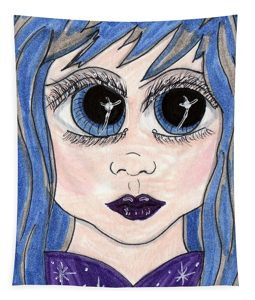 Emo Tapestry featuring the painting Emo Girl I by Tambra Wilcox
