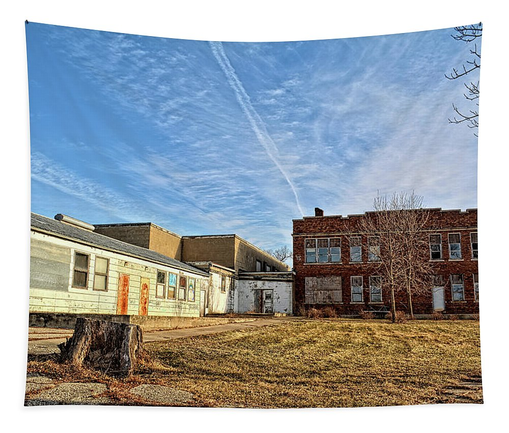 School Tapestry featuring the photograph Empty Halls by Bonfire Photography