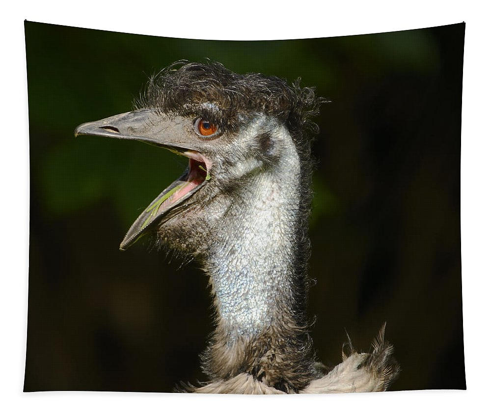 Animal Tapestry featuring the photograph Emu by Marv Vandehey