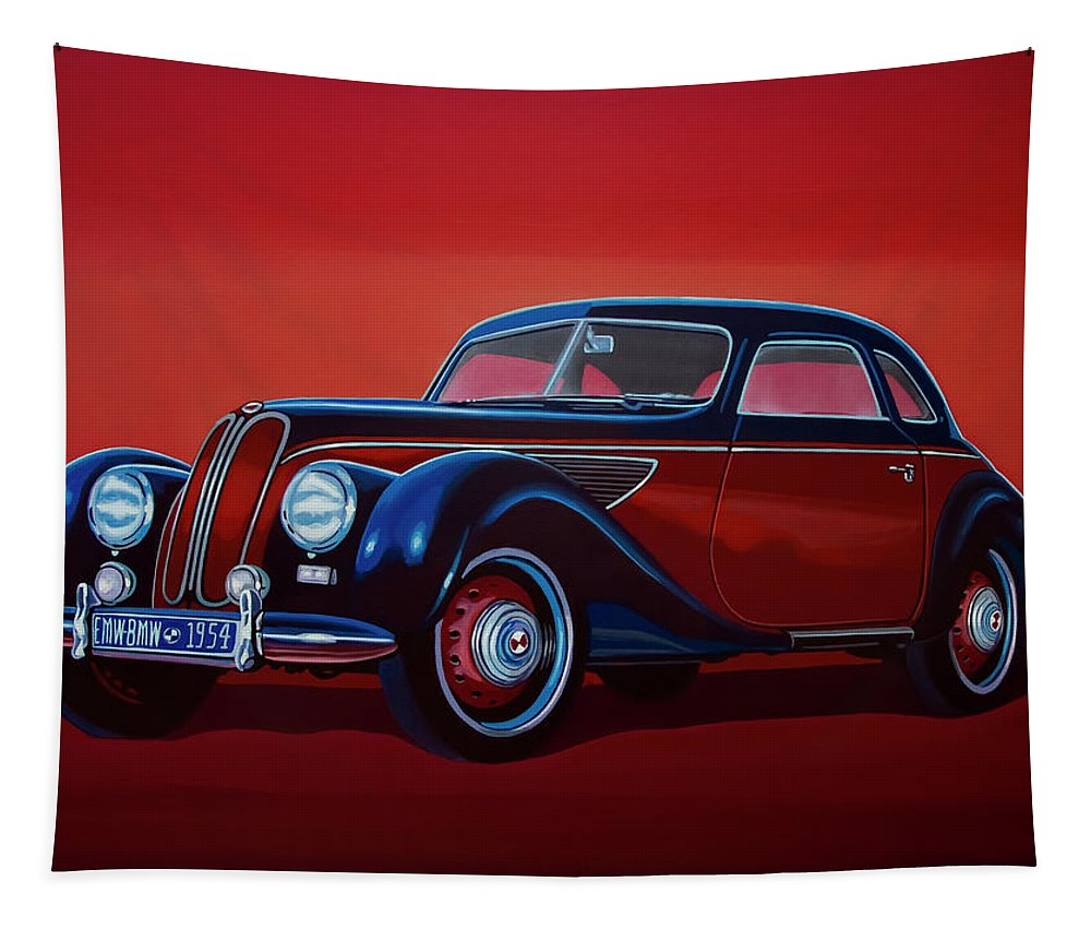 Emw Bmw Tapestry featuring the painting Emw Bmw 1951 Painting by Paul Meijering