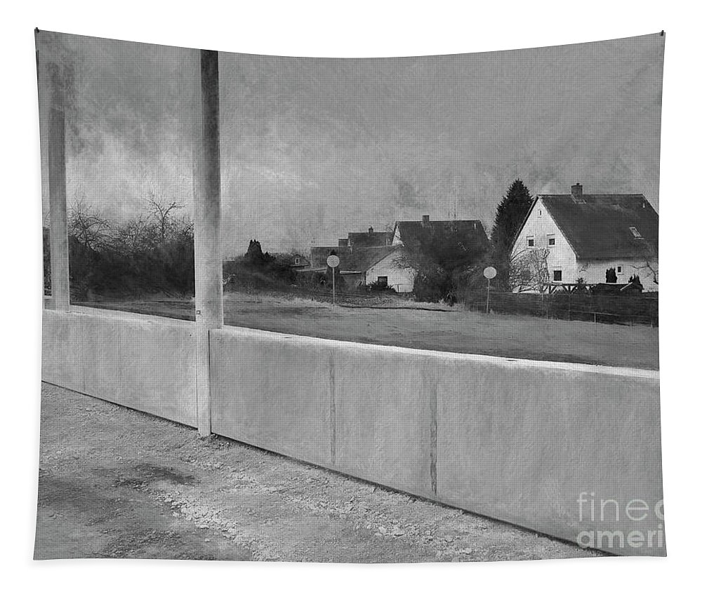 Noise Barrier Wall Tapestry featuring the digital art End Of An Era by Elisabeth Lucas