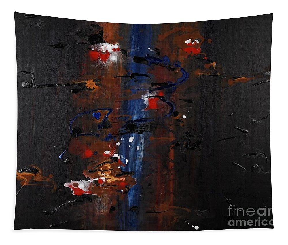 Black Tapestry featuring the painting Energy by Nadine Rippelmeyer