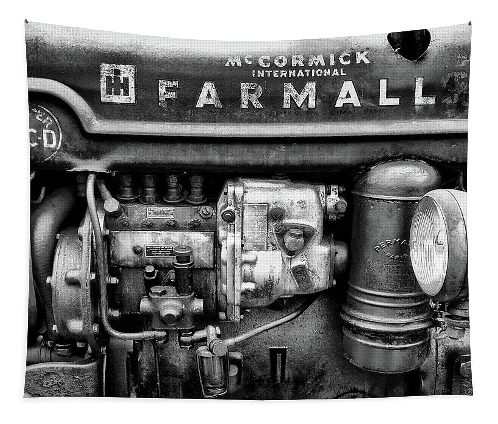 Farmall Tapestry featuring the photograph Engine - Farmall Tractor by Philip Openshaw