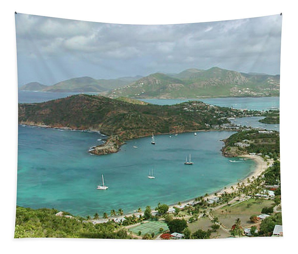 Antigua Tapestry featuring the photograph English Harbour Antigua by John Edwards