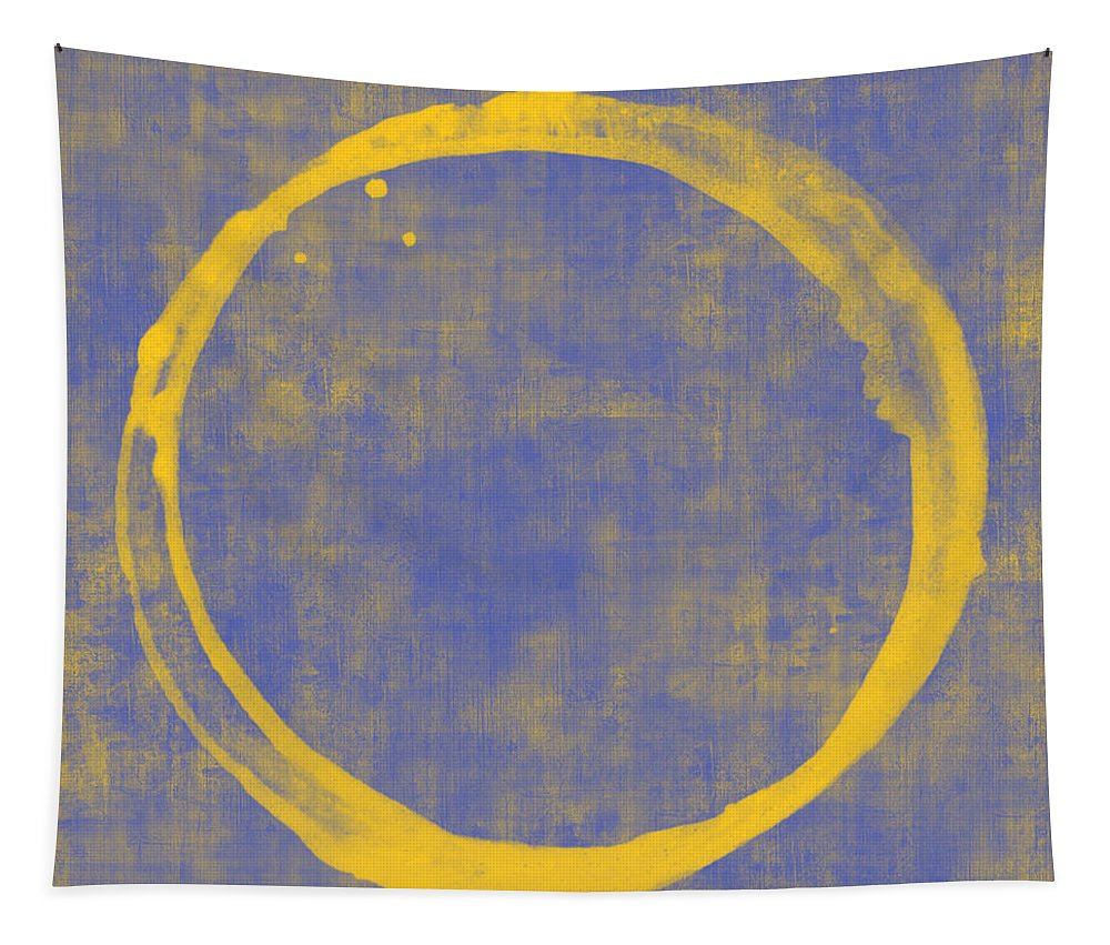 Circle Tapestry featuring the painting Enso 1 by Julie Niemela