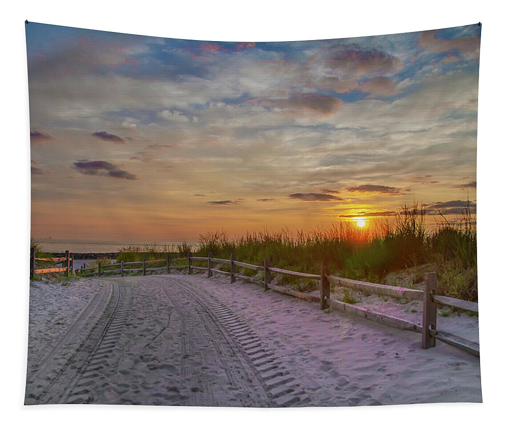 Enter Tapestry featuring the photograph Enter Paradise- Avalon New Jersey by Bill Cannon