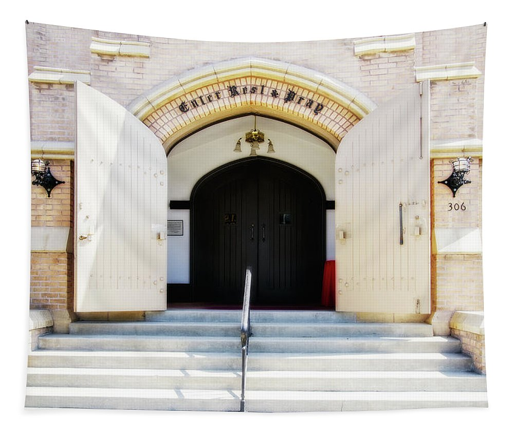 Church Tapestry featuring the digital art Enter, Rest And Pray by Terry Davis