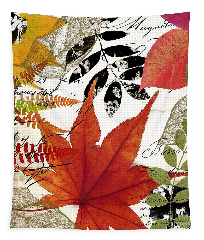 Leaves Tapestry featuring the painting Equinox I by Mindy Sommers