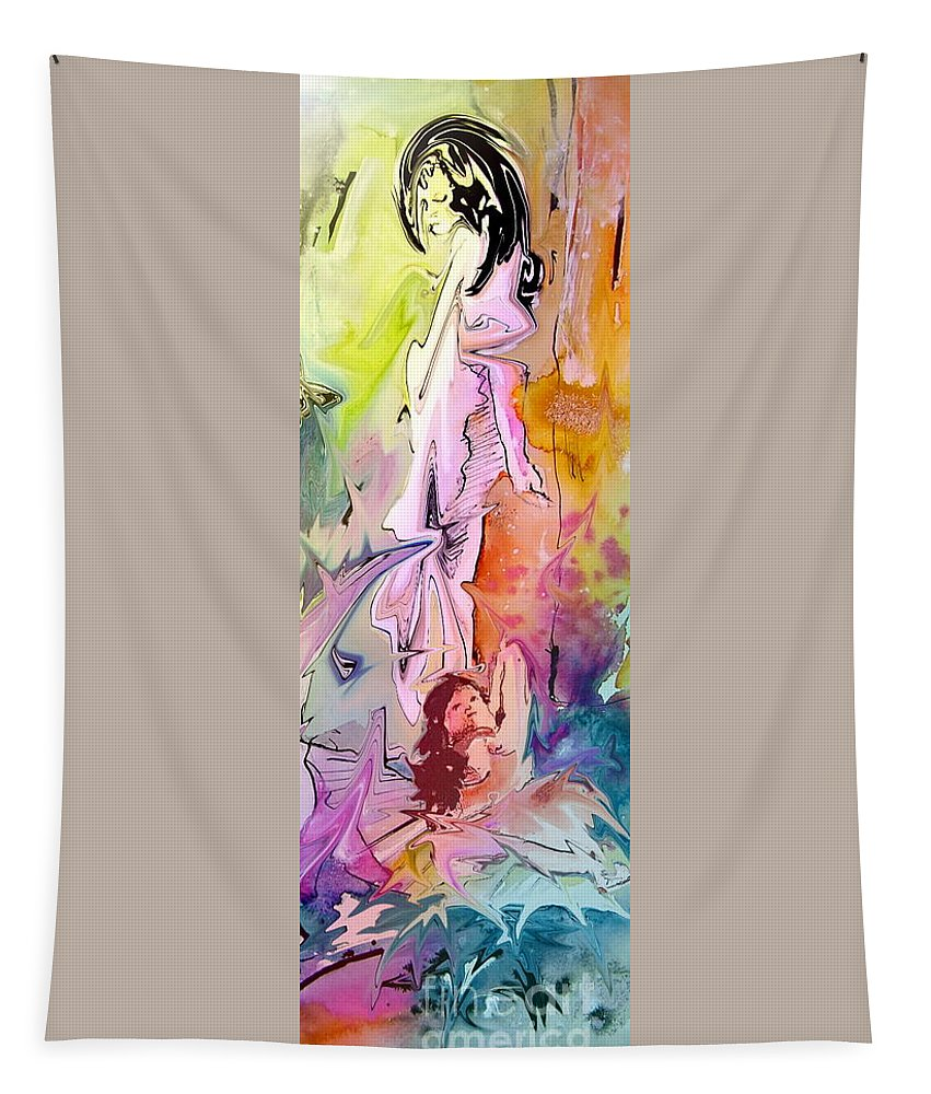 Miki Tapestry featuring the painting Eroscape 09 1 by Miki De Goodaboom