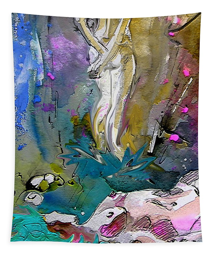Miki Tapestry featuring the painting Eroscape 1104 by Miki De Goodaboom