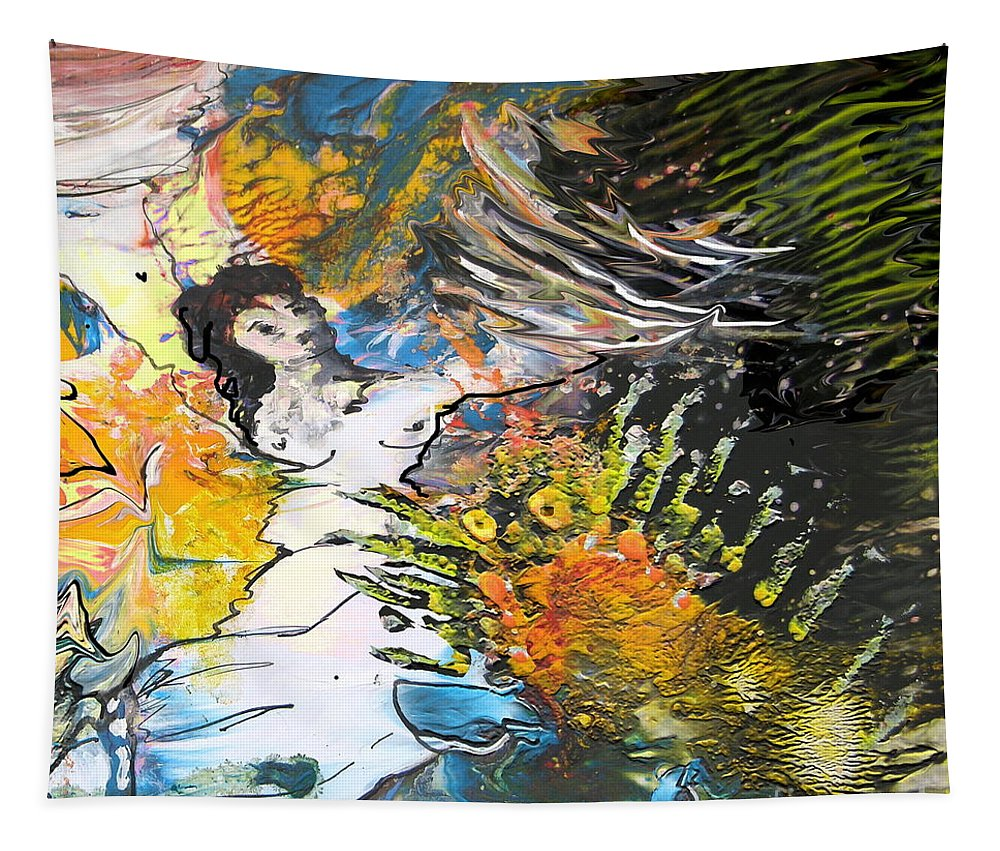 Miki Tapestry featuring the painting Erotype 07 2 by Miki De Goodaboom