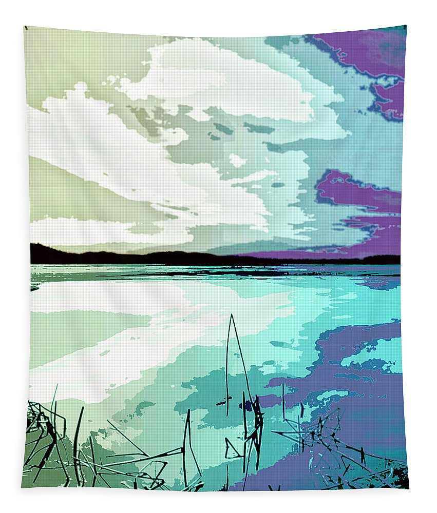 Estuary Tapestry featuring the mixed media Estuary by Dominic Piperata