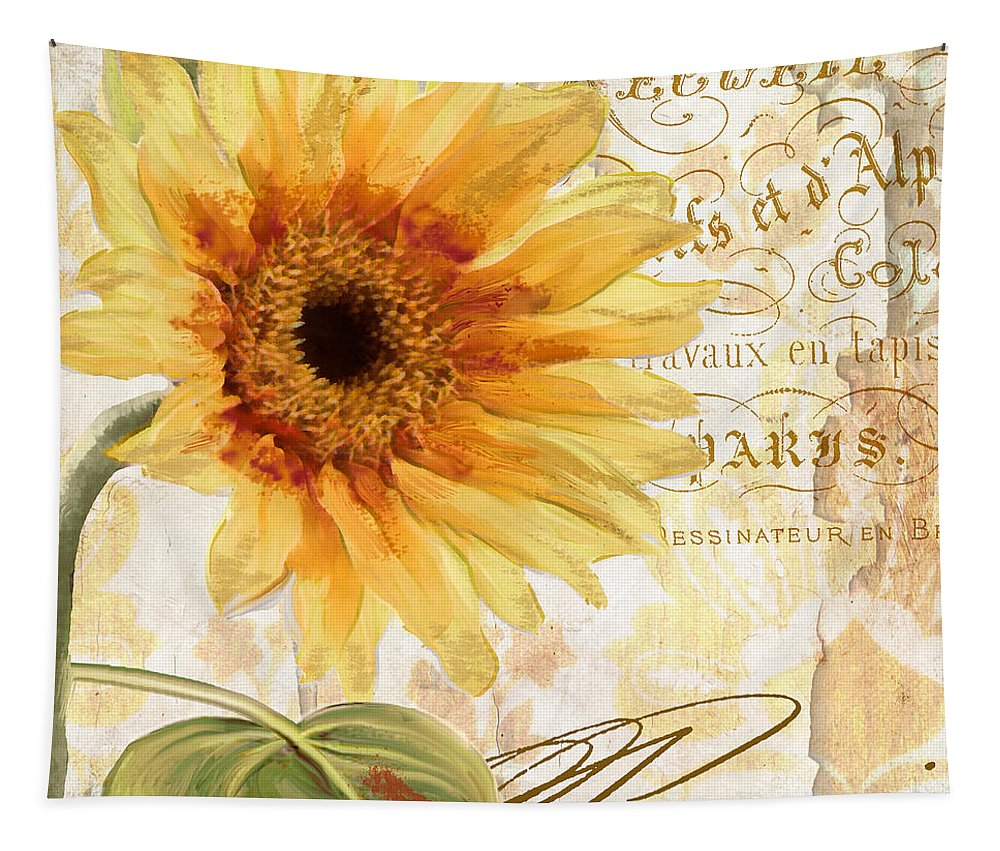 Sunflower Tapestry featuring the painting Ete by Mindy Sommers