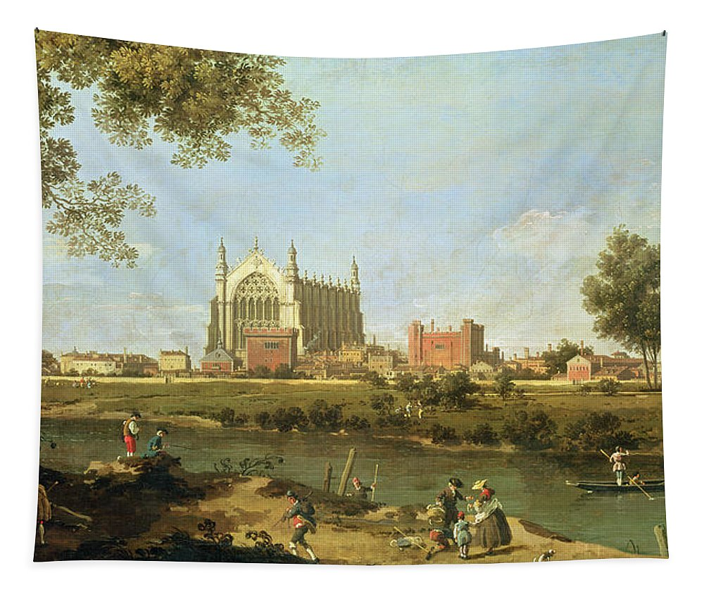 Eton Tapestry featuring the painting Eton College by Canaletto