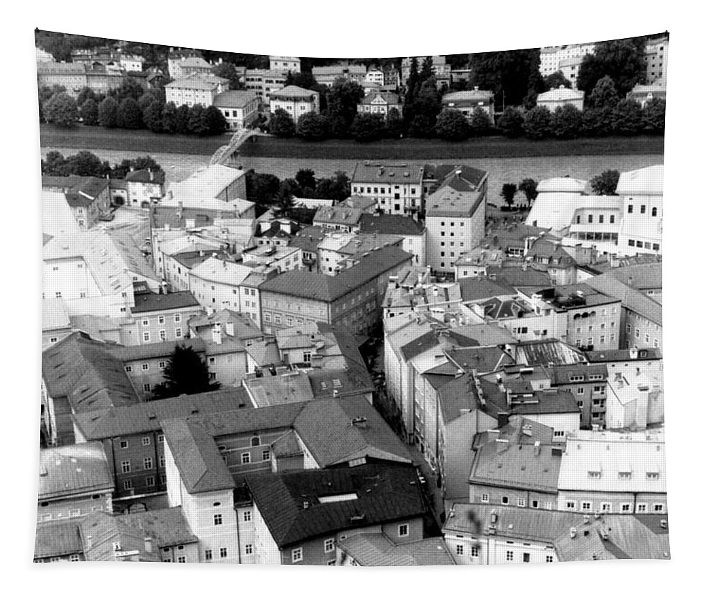 Rofftops Tapestry featuring the photograph European Rooftops by Michelle Calkins