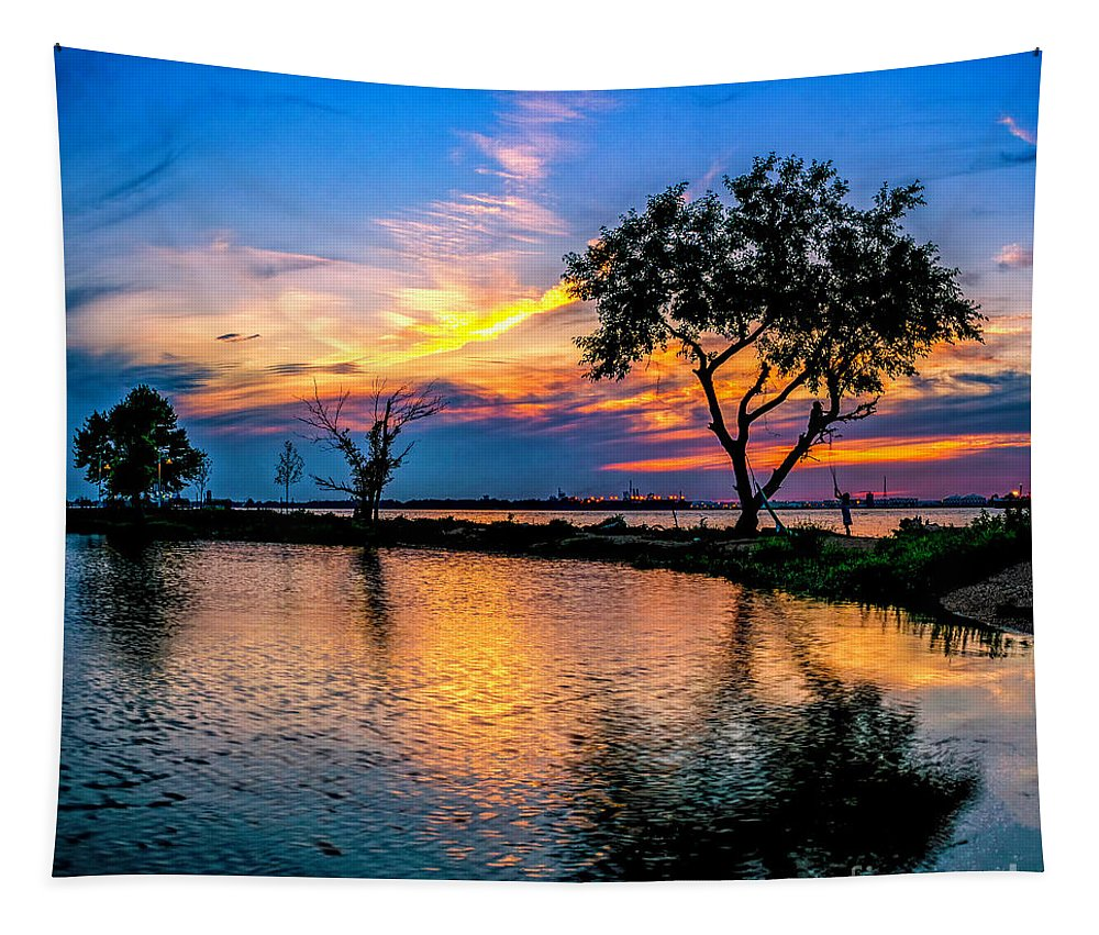 Gloucester County Tapestry featuring the photograph Evening At Riverwinds by Nick Zelinsky