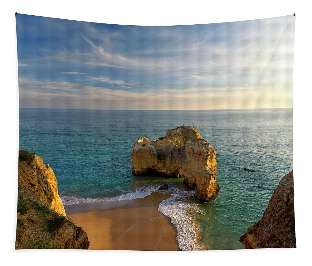 Portugal Tapestry featuring the photograph Evening Rocha Rocks by Mikehoward Photography
