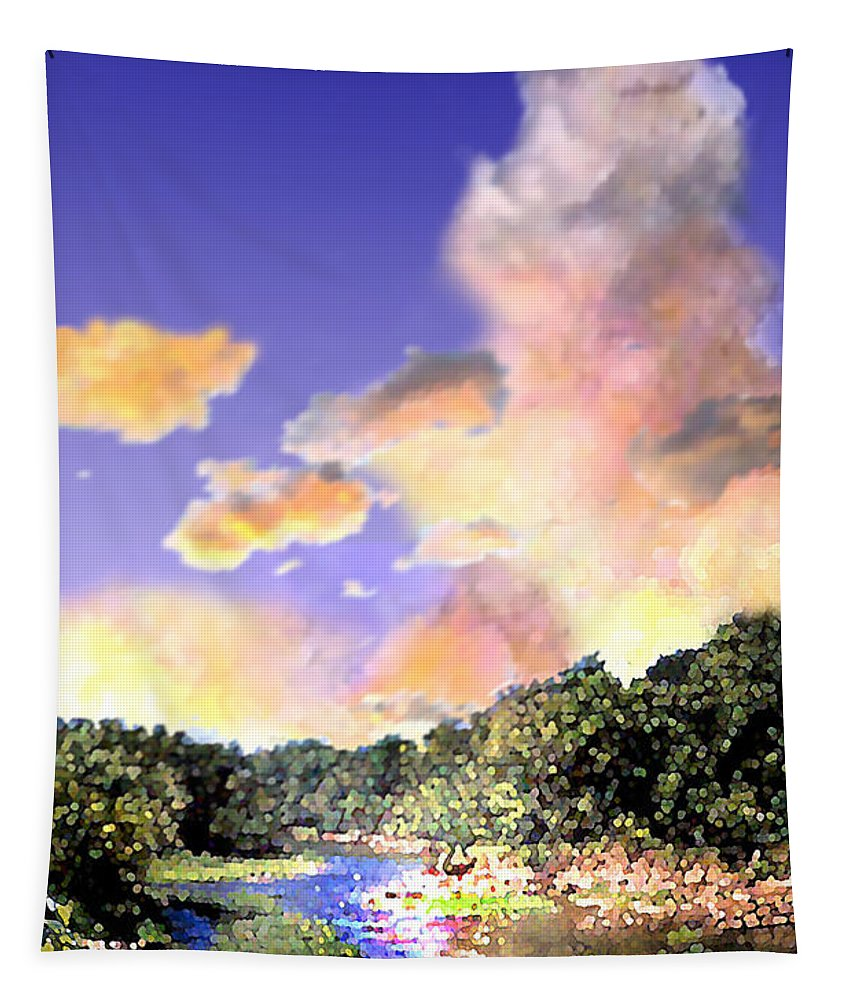 Landscape Tapestry featuring the digital art Evening Star by Steve Karol