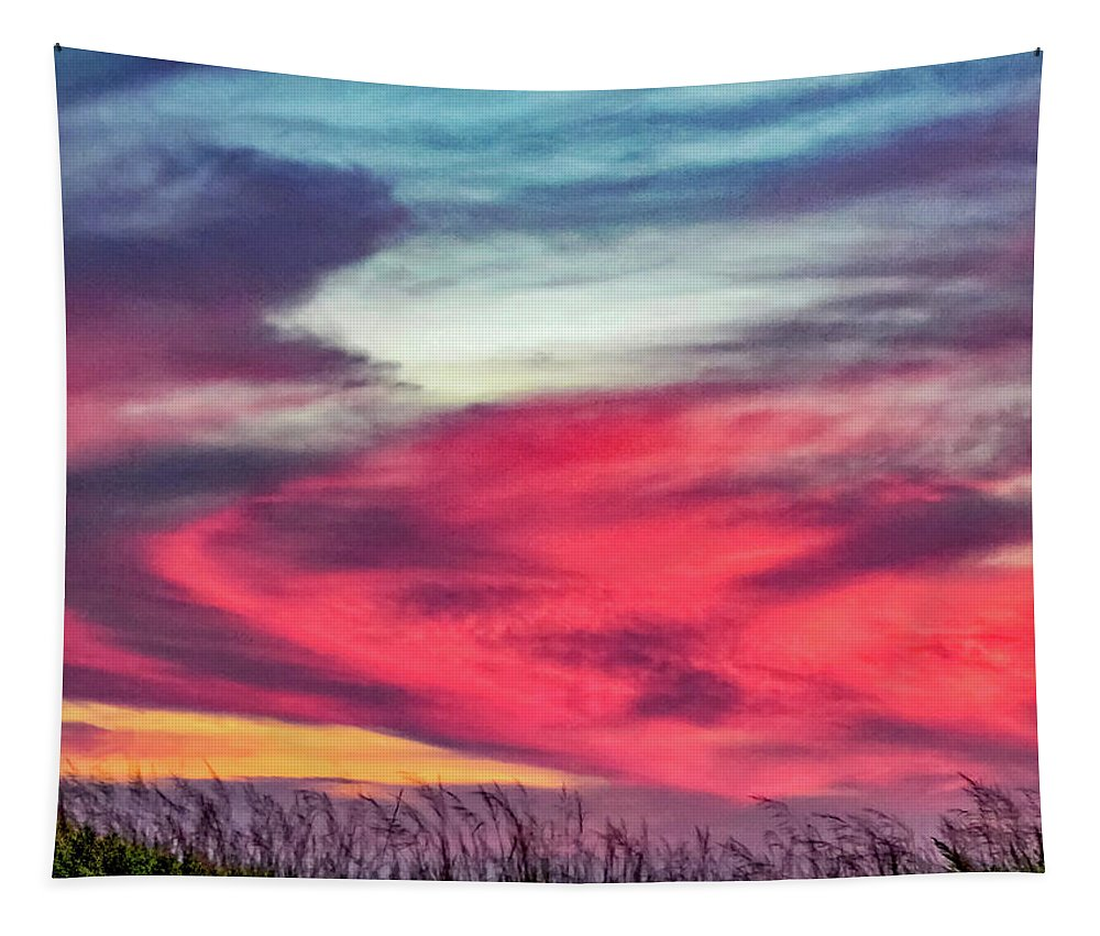 Sunset Tapestry featuring the photograph Evening's Palette 2 by Steve Harrington