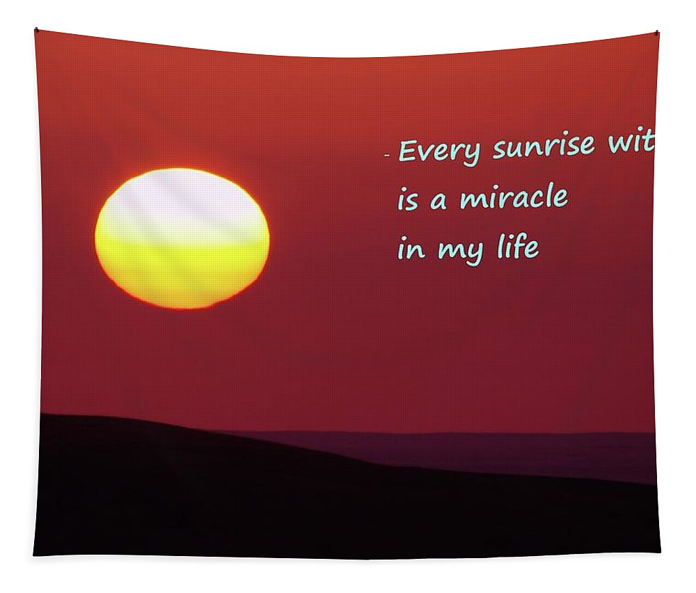 Sunrise Tapestry featuring the photograph Every Sunrise by Jeff Swan