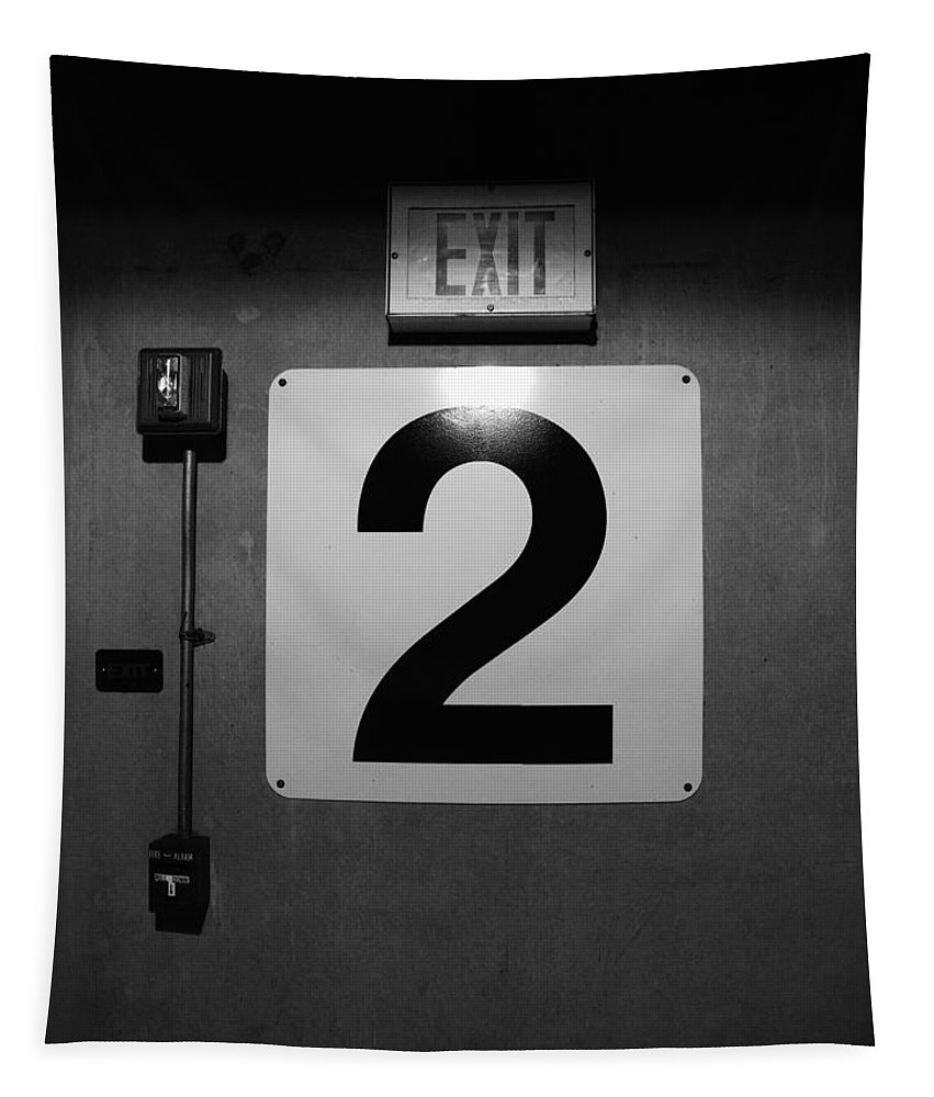 Door Tapestry featuring the photograph Exit Two by Bob Orsillo