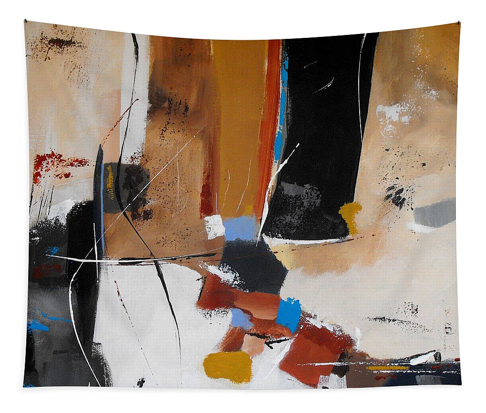 Abstract Tapestry featuring the painting Expectations by Ruth Palmer