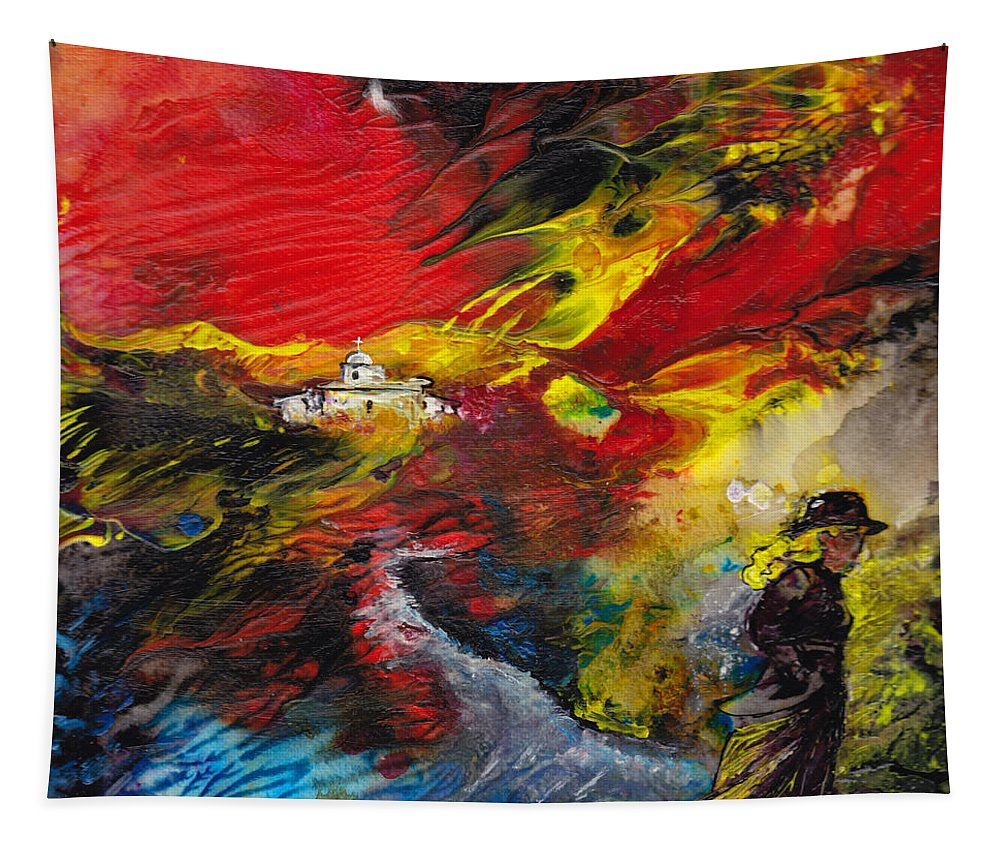Impressionism Tapestry featuring the painting Expelled From The Land by Miki De Goodaboom